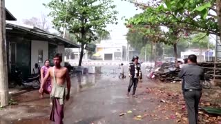 Myanmar police use water cannon to disperse protesters