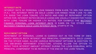 Is Gold Loan Better Than Personal Loan?