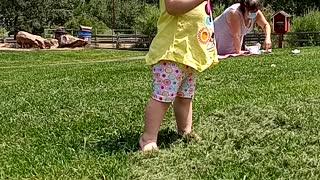Baby Skyla walking