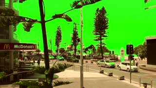 Green Screen Surfers Paradise Beach