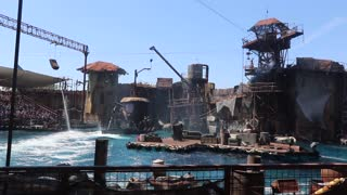 Water world at Universal studios in Hollywood.
