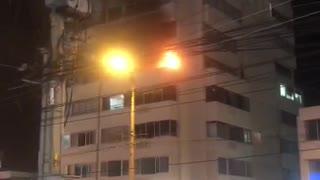 Incendio en apartamento de un edificio en Bocagrande