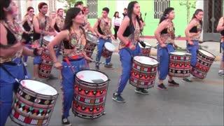 Bolivian and Peruvian dance festival in Santiago