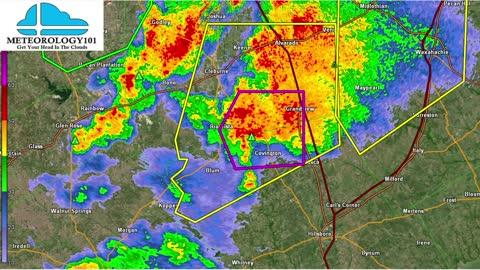 Tornado Warning in Texas