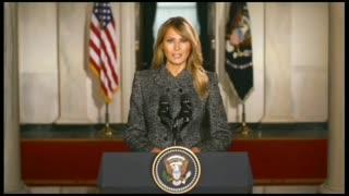 First Lady Melania Trump Farewell Message