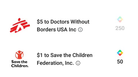 Me donating to save the children