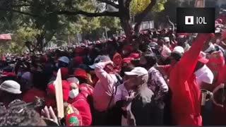EFF leader Julius Malema at Vaccine protest