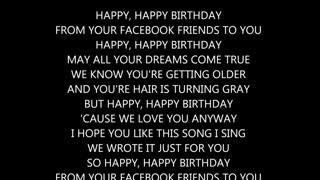 FaceBook Birthday Song