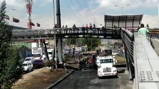 Así quedó Bogotá tras los disturbios