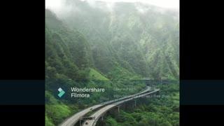 Beautiful Mountain Valley In Hawaii, USA