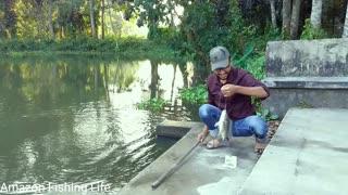 Best Hook Fishing || Traditional Hook Fishing