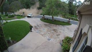 Car Crashes Down Hillside