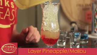 How To : Make A Paradise Tropical Layered Cocktail