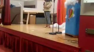 First time singing on stage