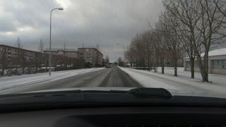 Driving around Reykjavik