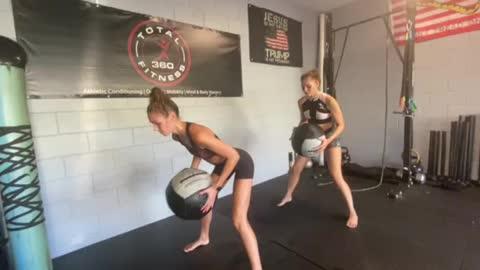 Exercise Technique #20 Medicine Ball: RDL PT shove tossEe
