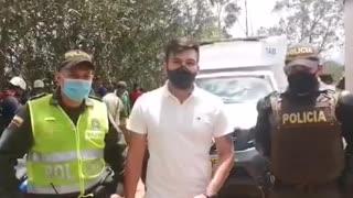 Rescate de un hombre en la Mesa de Los Santos