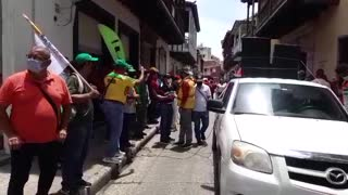 Así avanza la marcha en Cartagena en apoyo al paro nacional