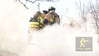 Firefighters Battle Blaze in -20 Degree Windchill