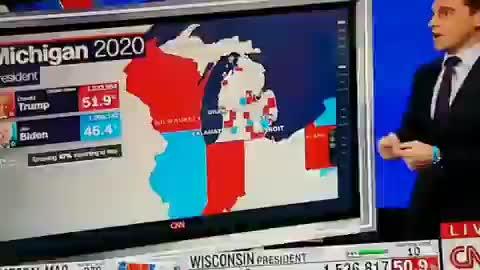 Biden gets 110,000 votes, dumb struck cnn