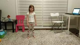 Cute little girl teleports