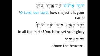 Psalm 8 sung in Hebrew