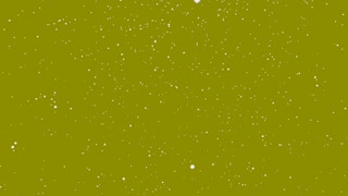 Snowflakes Falling on Green Screen Motion Background