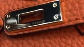 Luxurious leather women handbag