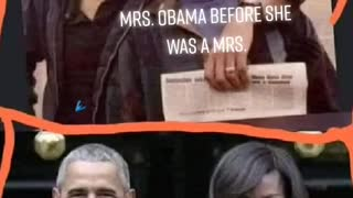 Obama and Michelle when they were younger