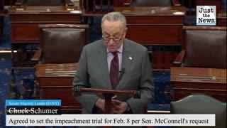 Schumer says Senate will wait until February to begin Trump impeachment trial