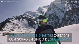 GoPro faz imagens incríveis de snowboard no Cazaquistão
