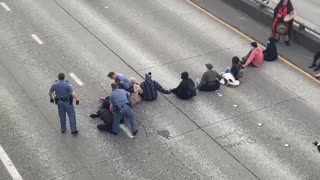 """BLM """"Protesters"""" Shut Down Entire Freeway in Seattle, Media Silent"""