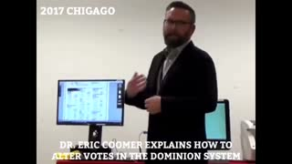 Eric Coomer explains how to alter votes in the Dominion system