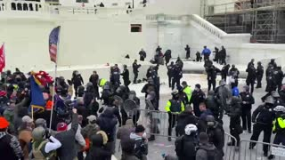 Jan. 6 Crowd Only Moments Before Capitol Police Begin Launching Stun Grenades Into the Crowd