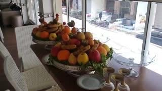 Wedding presentation's food