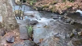 Slow motion waterfall in Paris Mountain State Park