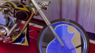 Hard rock motorcycle display