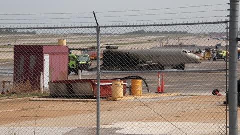 St. Louis Lambert International Airport Fire Department putting out fires.