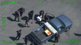 Wild Police Chase of Aggravated Assault Suspect, Sparks Fly...