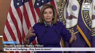 "Pelosi: ""We're not budging"""