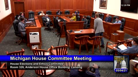 Testifying Before Michigan Elections and Ethics Committee 5/4/2021