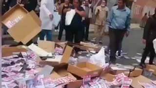 Bolivia voter fraud caught red handed!