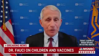 """Dr. Fauci: """"Unvaccinated Children Should Be Wearing Masks, No Doubt About That"""""""
