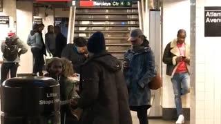 Subway two guys guitar serenade singing