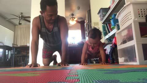 Baby and Daddy stretch