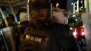 Protesta durante el 16 de diciembre en Bucaramanga