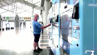 Tokyo vending machines sell Olympics souvenirs