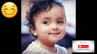 Very cute Baby smiling