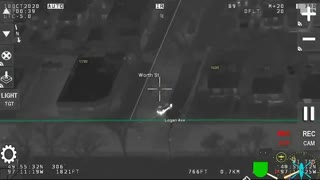 Night Vision AIR1: Police Pursuit of Armed Suspect
