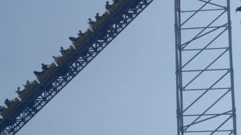 Millennium Force Coaster Stuck on Hill at Cedar Point September 11 2021